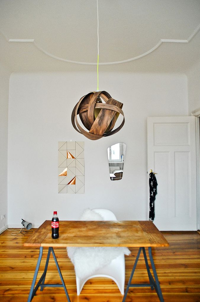 Walnut Veneer lamp